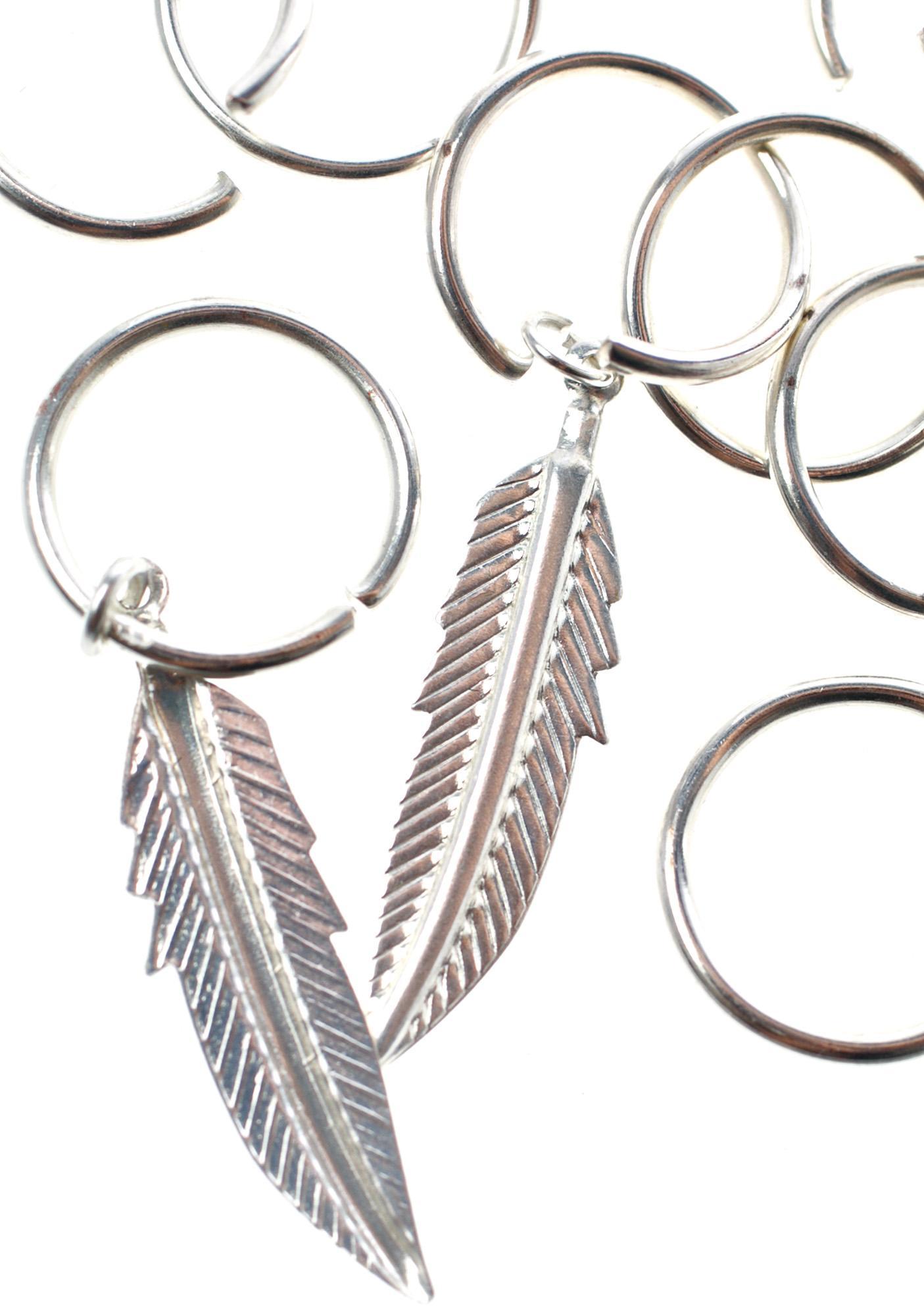 Faroe Feather Hair Rings
