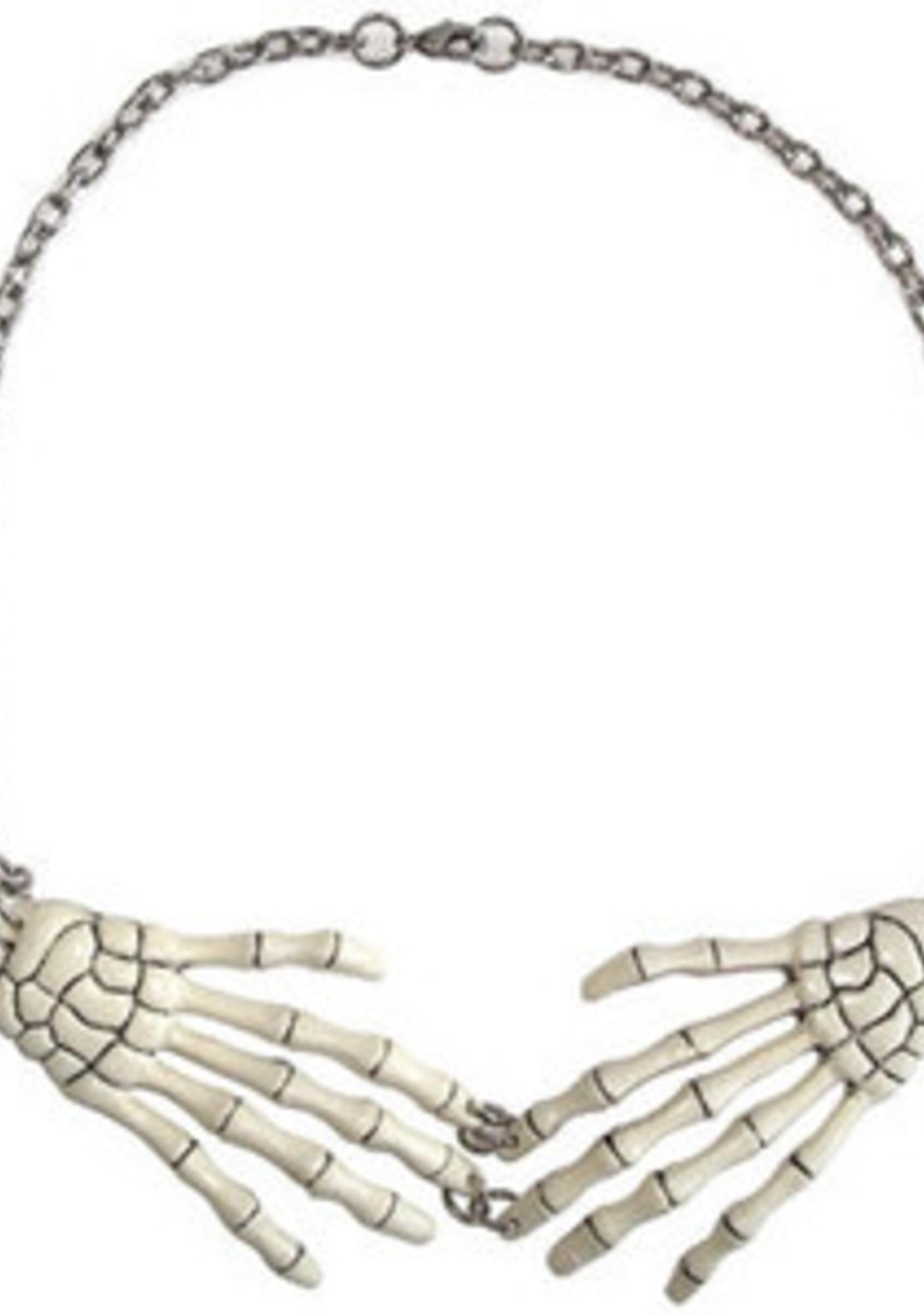 Kreepsville 666 Skeleton Bone Hand Necklace