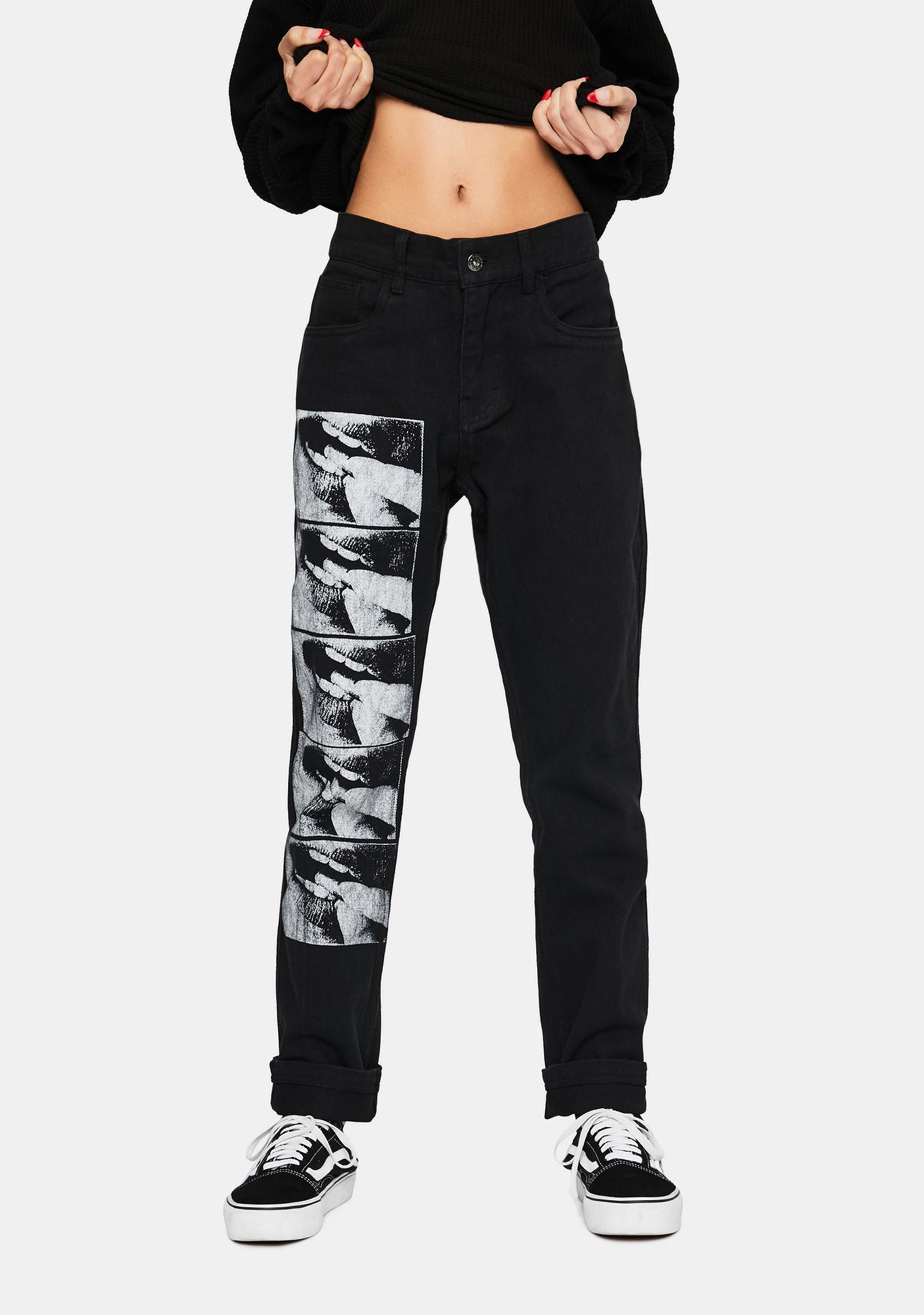 Pleasures Black Swallow Denim Jeans