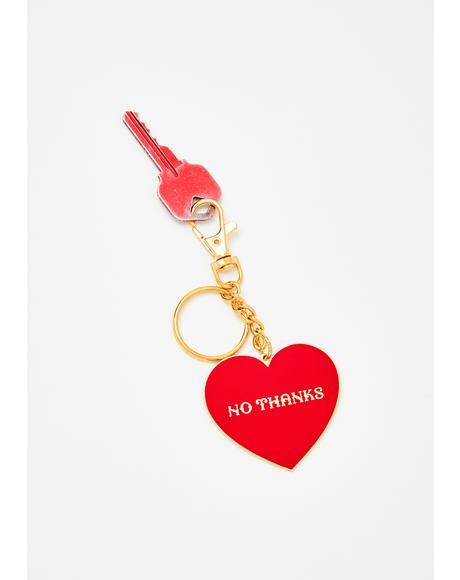 No Thanks Keychain