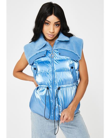 Blue Moon Puffer Vest