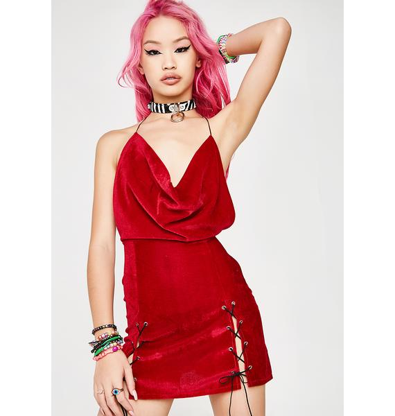 O Mighty Velvet Xtina Dress