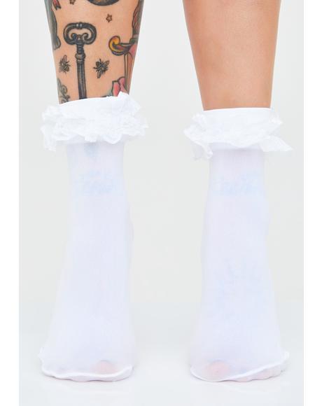 Saint Sass Ruffle Socks