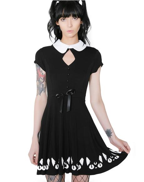 Keiko Kitty Skater Dress