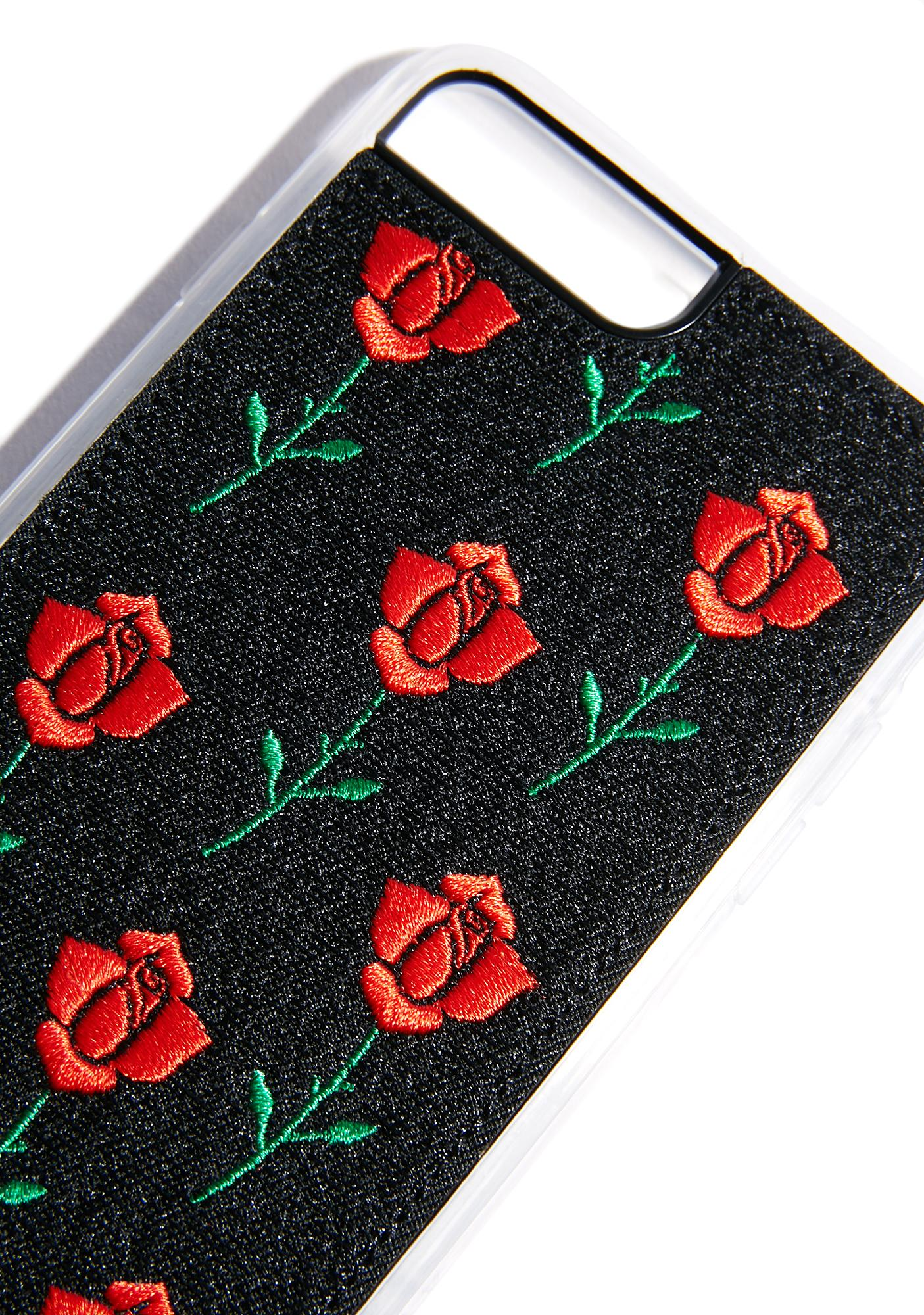 Zero Gravity Scarlet Rose Embroidered Case