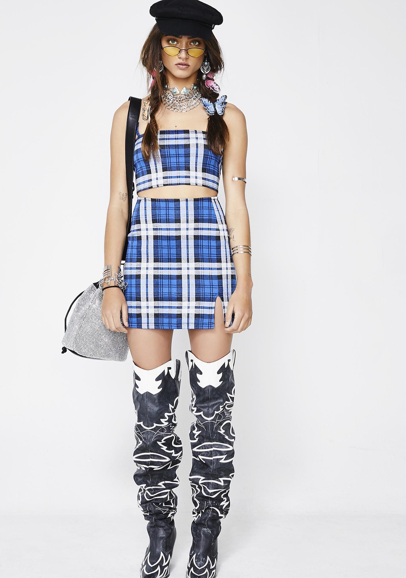 Motel Plaid Dina Skirt
