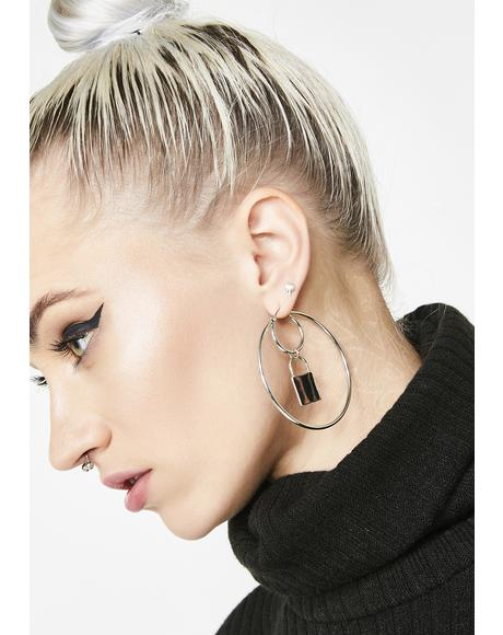 Final Lockdown Hoop Earrings