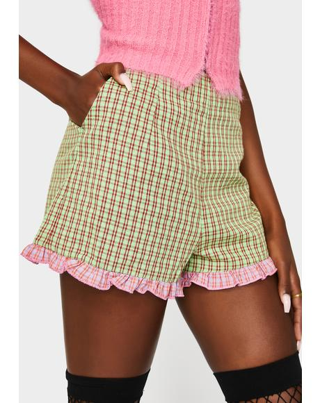 Checkered Frill Shorts