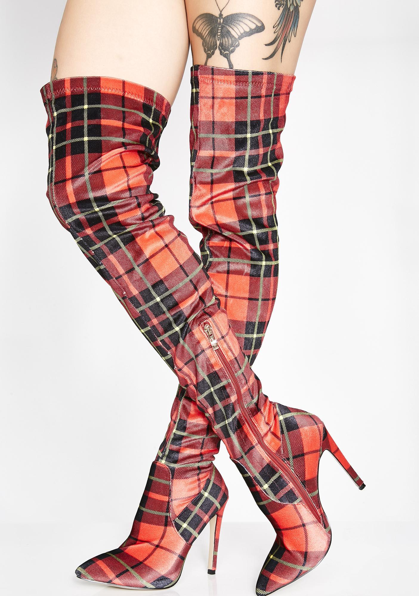 Lamoda Slay Siren Thigh High Boots