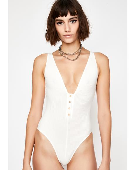 Icy Look Back At It Ribbed Bodysuit
