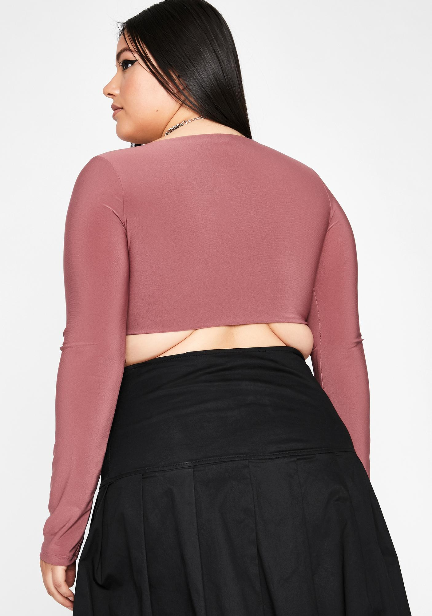 Mauve Better Stay Hooked Crop Top