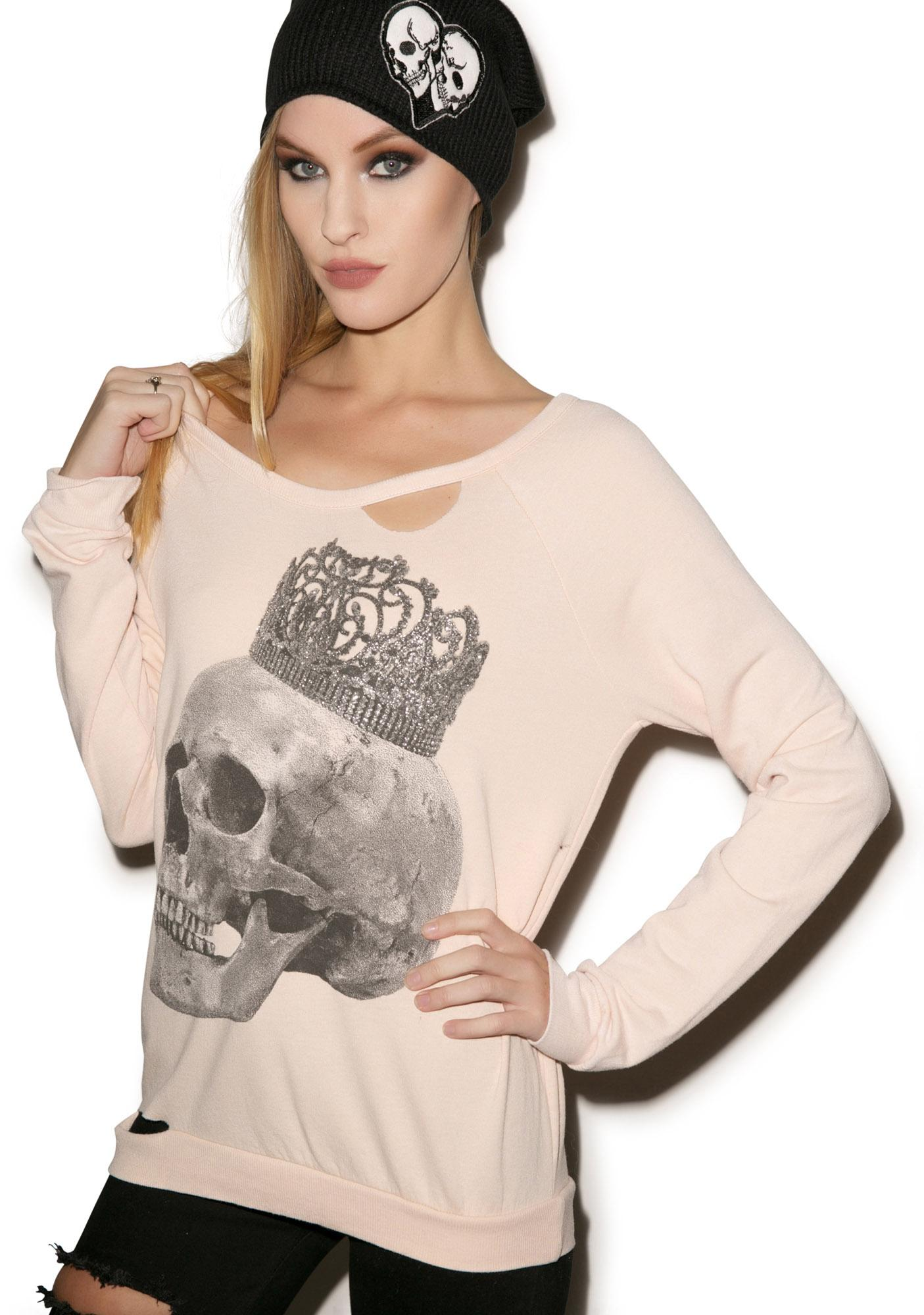 Chaser Crowned Skull Sweater