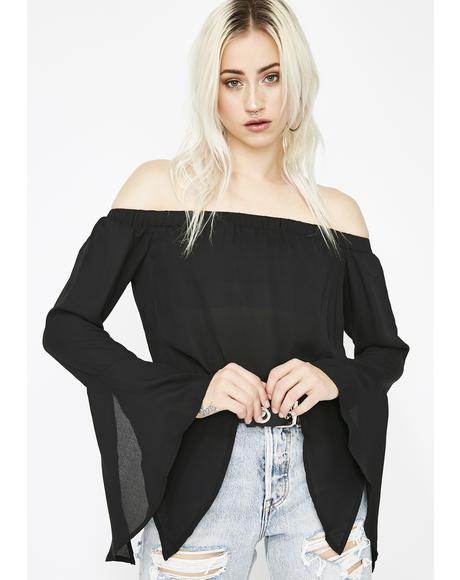 Wicked Charm Bell Sleeve Top