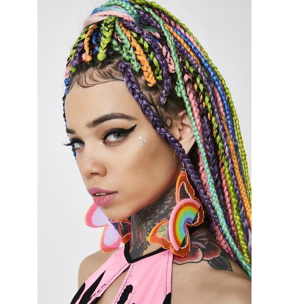 Marina Fini Pink Butterfly Earrings