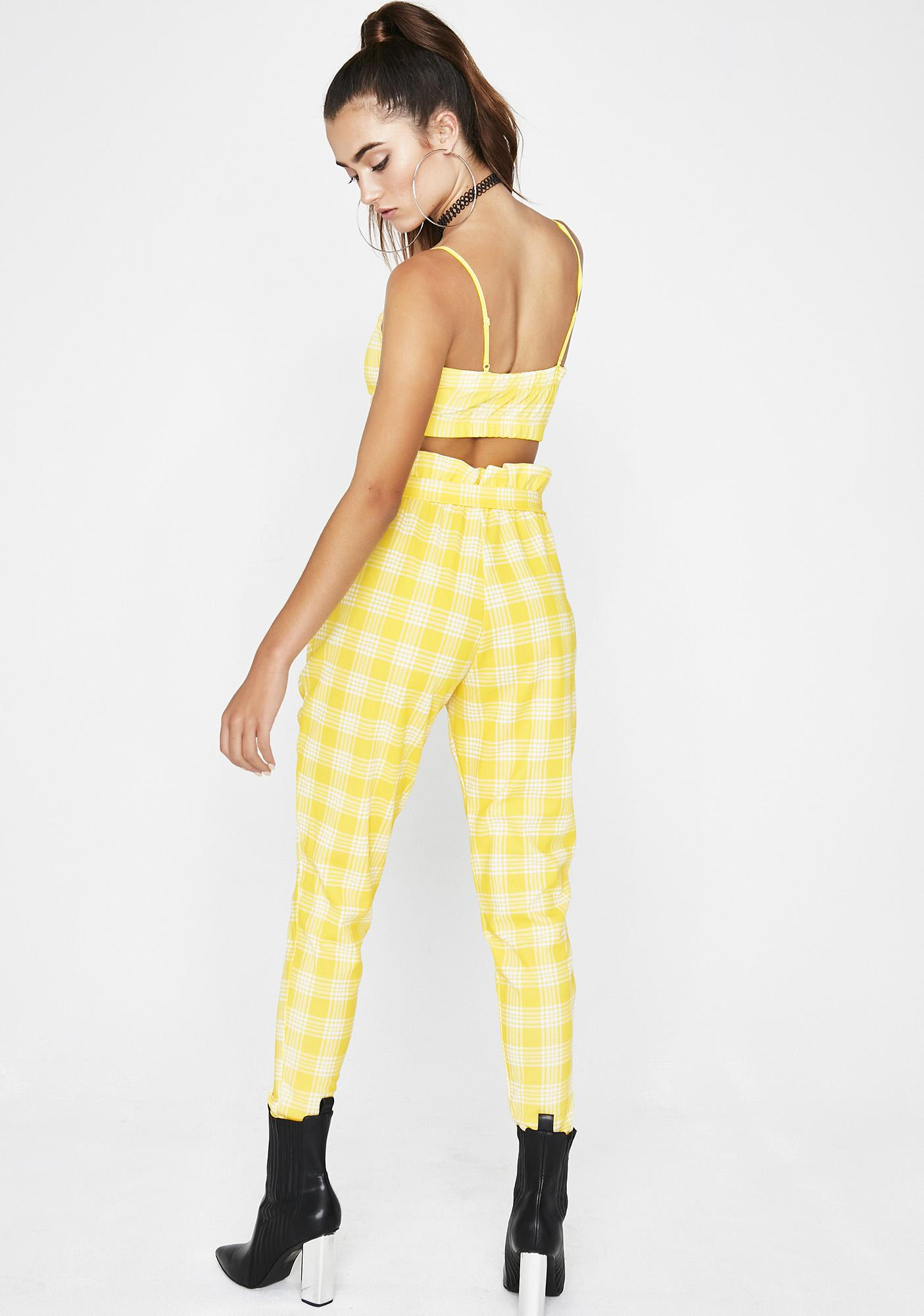 Sunny About That Life Plaid Set