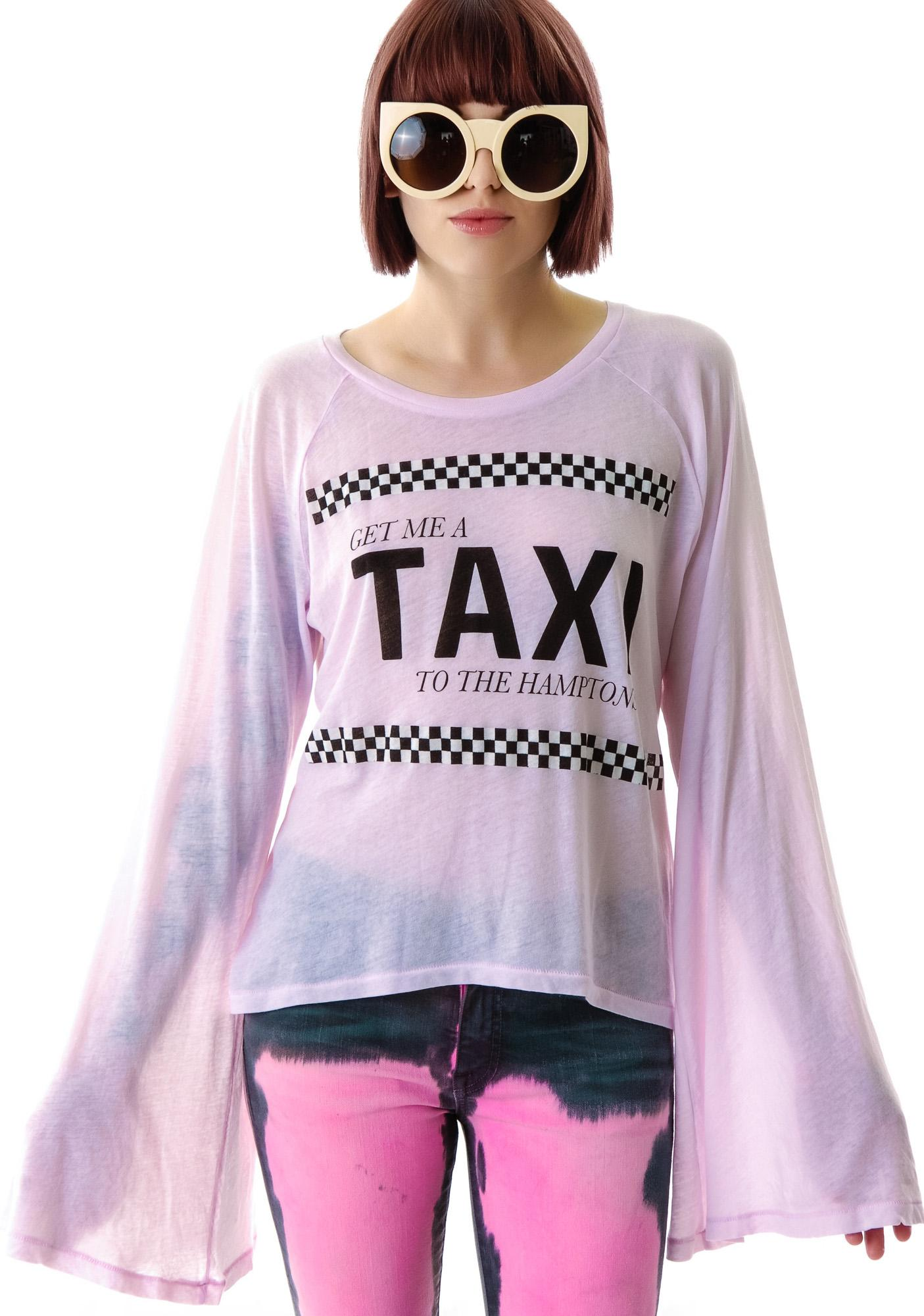 Wildfox Couture Take Me to the Hamptons Hotel Room Long Sleeve Tee