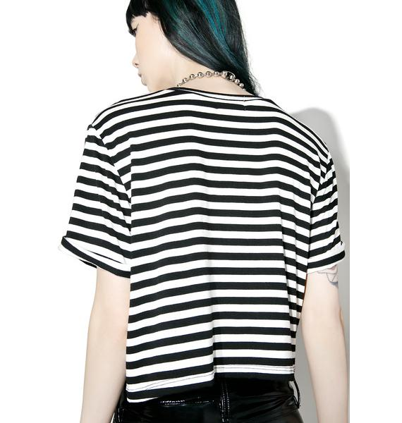 Rebel8 Sharp Tongue Stripe Tee