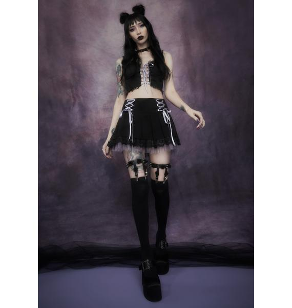 Widow Of Minxes And Men Lace Up Bustier Top