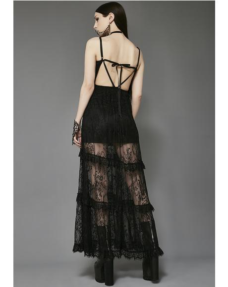 Temple Of Love Lace Maxi Dress