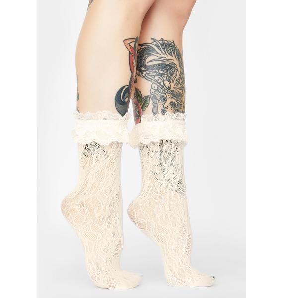 Grave Delusion Ruffle Socks