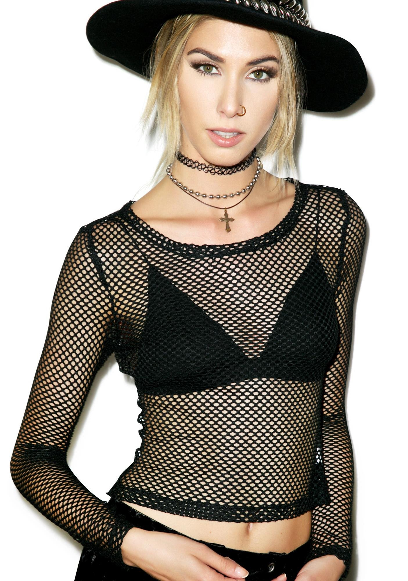 Rise of Dawn Hold It Together Mesh Top