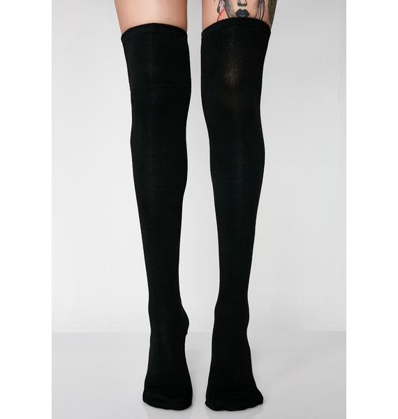 Pump It Up Thigh-High Socks
