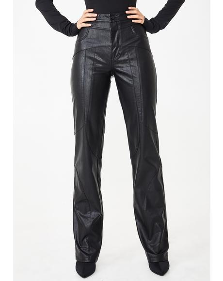 York Faux Leather Pants