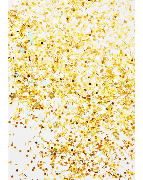 Star Bright Gold Confetti Glitter
