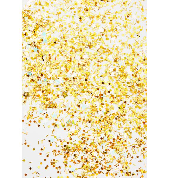 Andy Candy Makeup Star Bright Gold Confetti Glitter