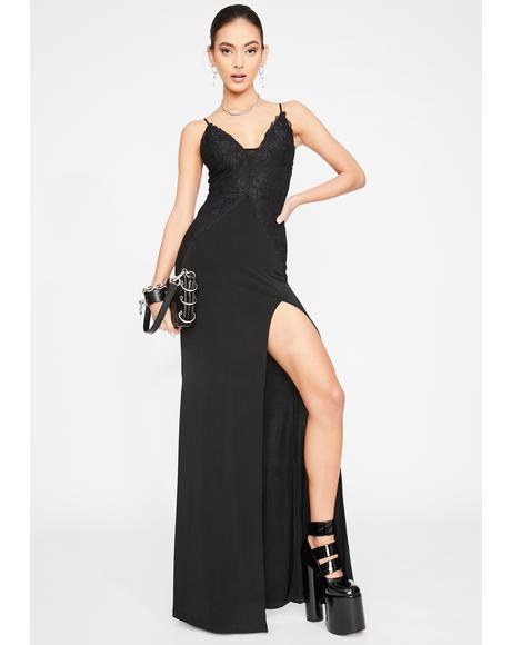 Noir Showstopper Maxi Dress