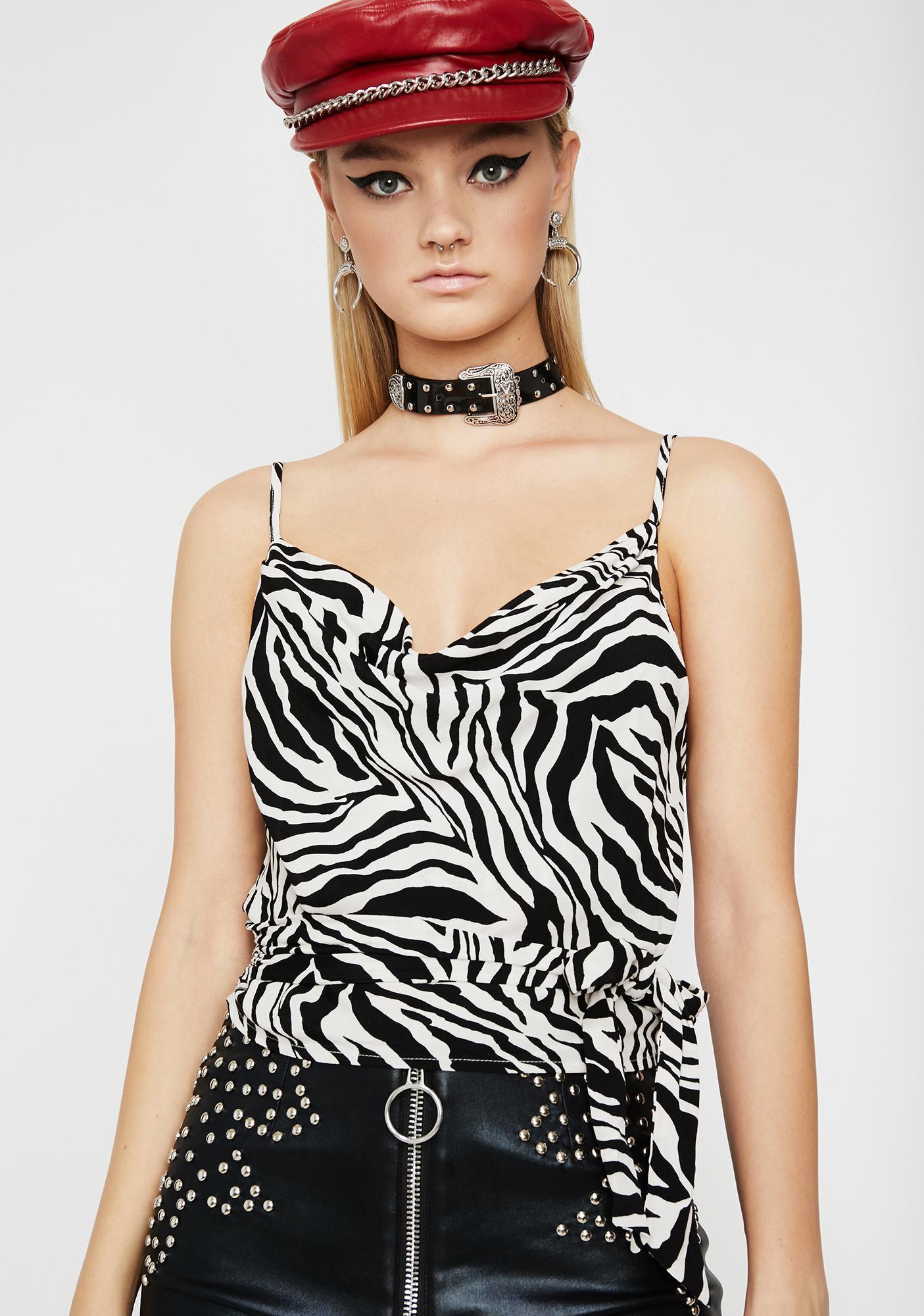 Get Buck Zebra Blouse