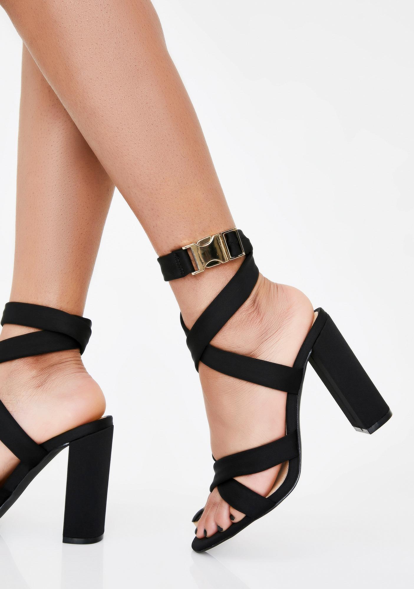 Blackout Betta Run Block Heels