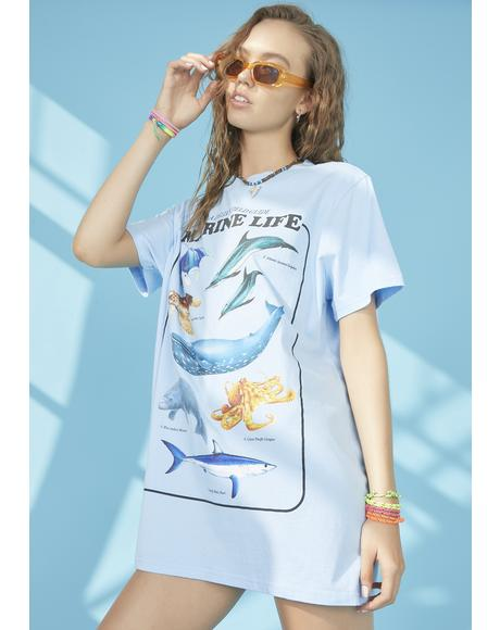 Under The Sea Oversized Tee
