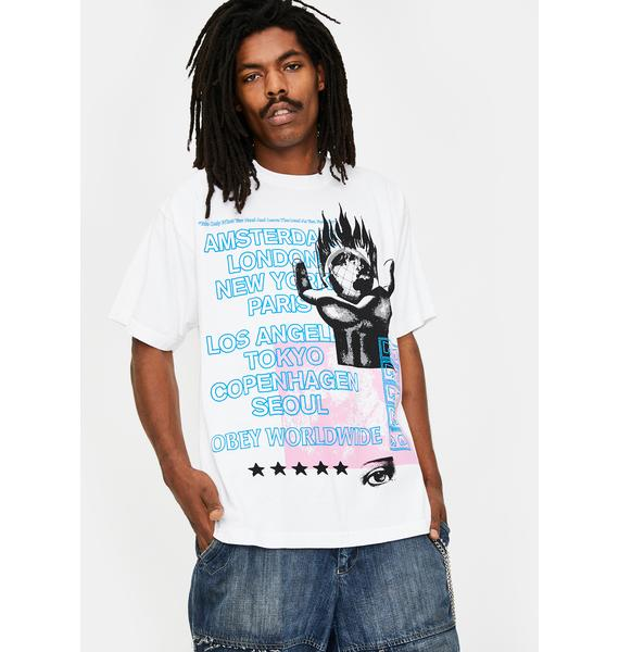 Obey Obey Our Planet Graphic Tee