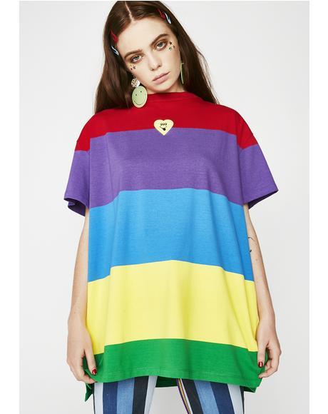 Wavy Rainbow Tee
