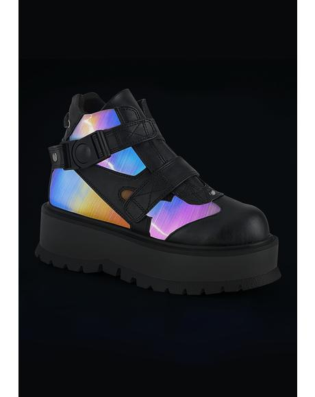 Synchronized Reflective Platform Sneakers