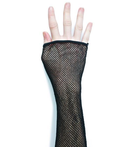 Heretic Pride Fishnet Gloves