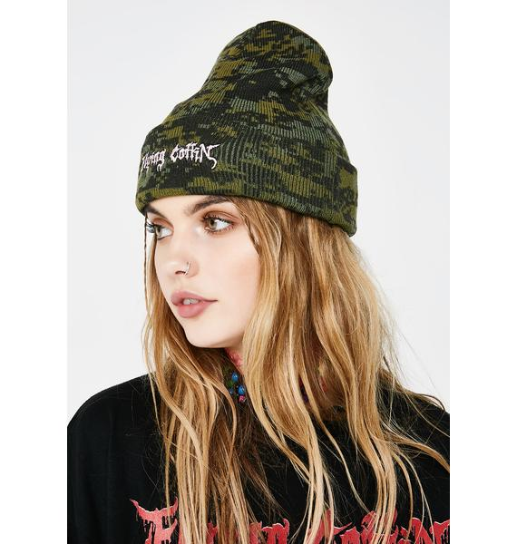 Flying Coffin Digital Beanie