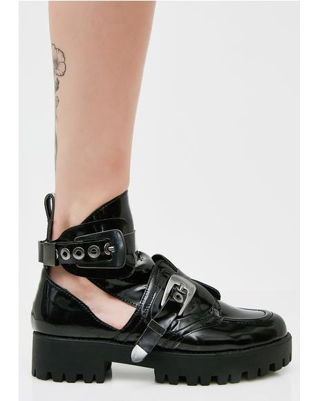 Buckled Down Cut-Out Boots