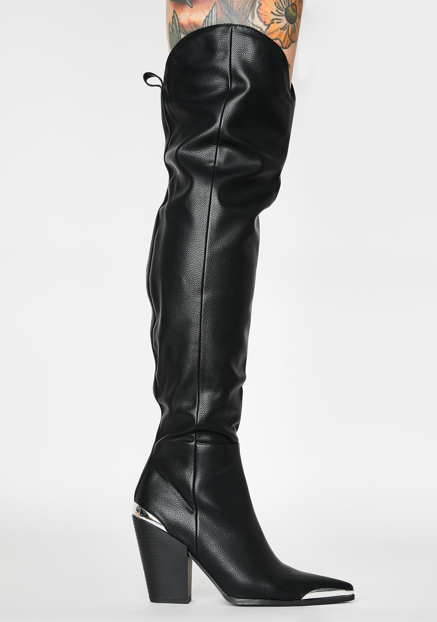 Public Desire Honour Thigh High Boots