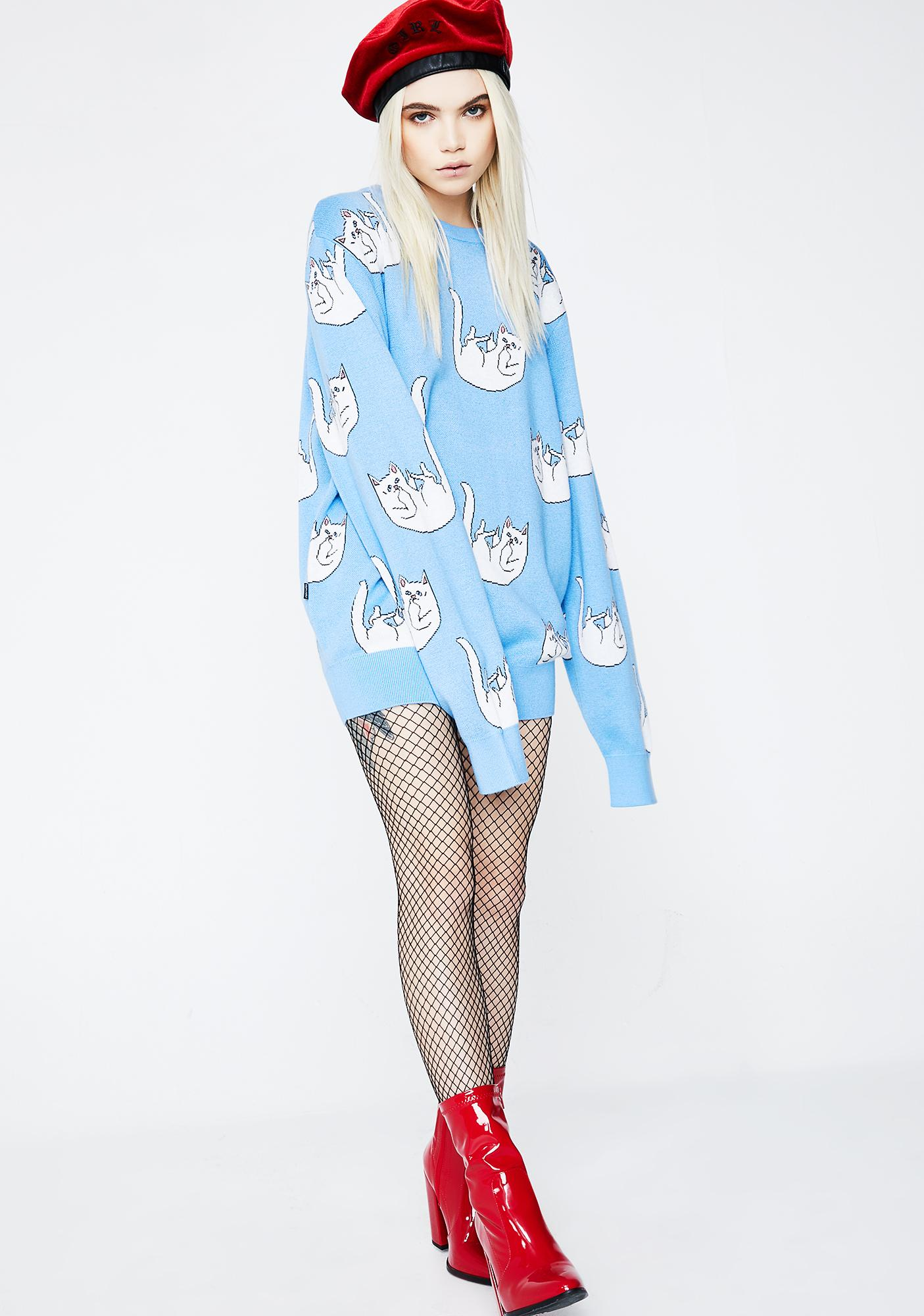 RIPNDIP Falling For Nermal Knit Sweater