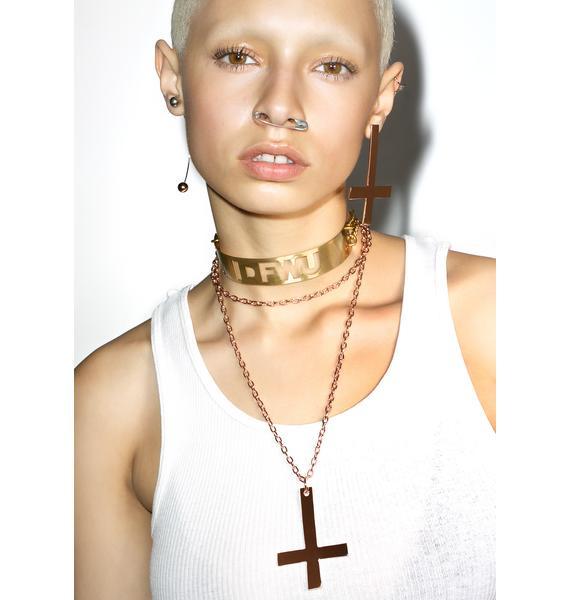 Rock n Rose Kora Inverted Cross Necklace