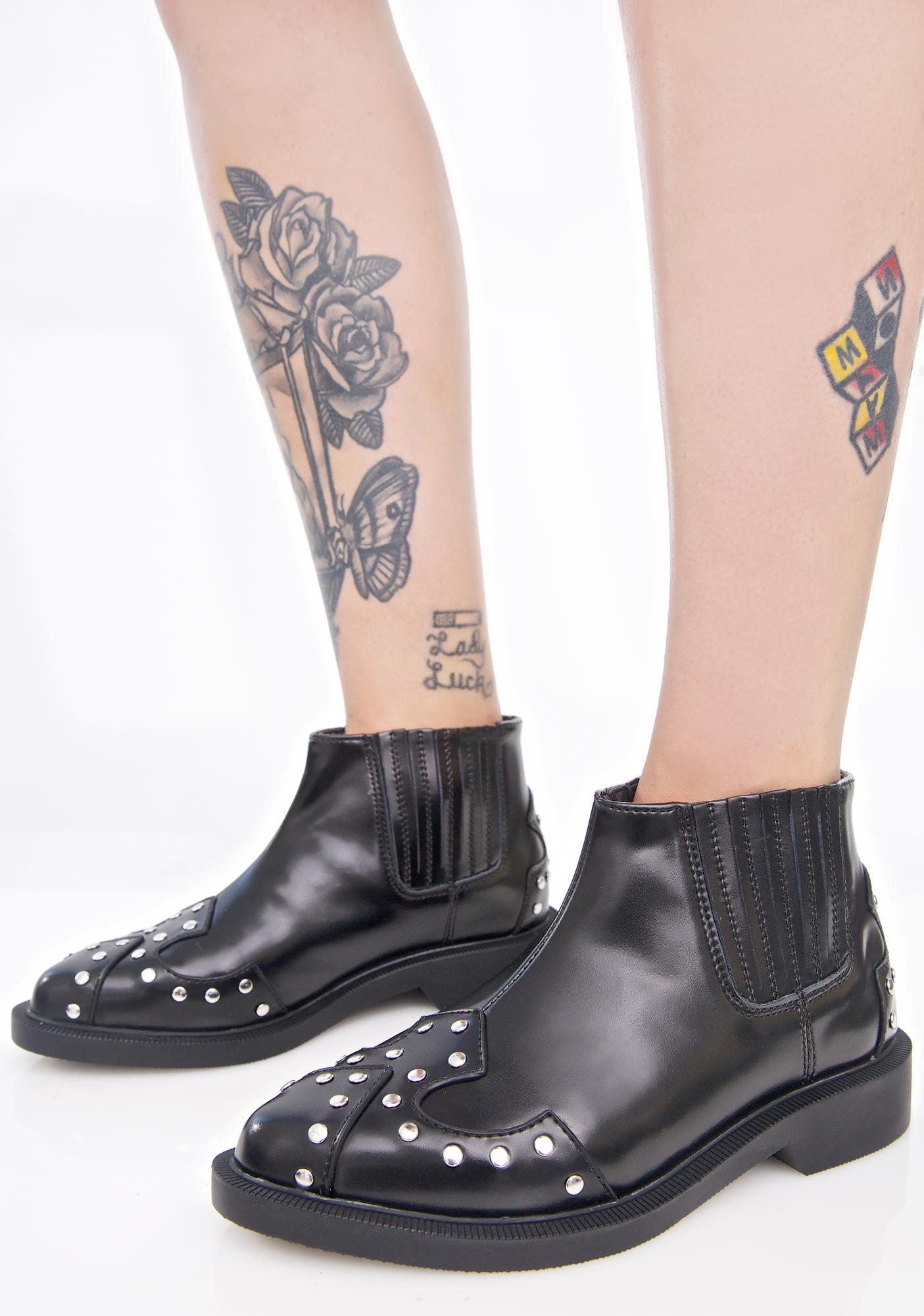 T.U.K. Western Studded Jam Boots