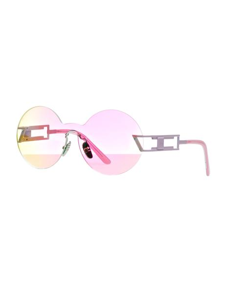 Seemore Pink Hologram Sunglasses