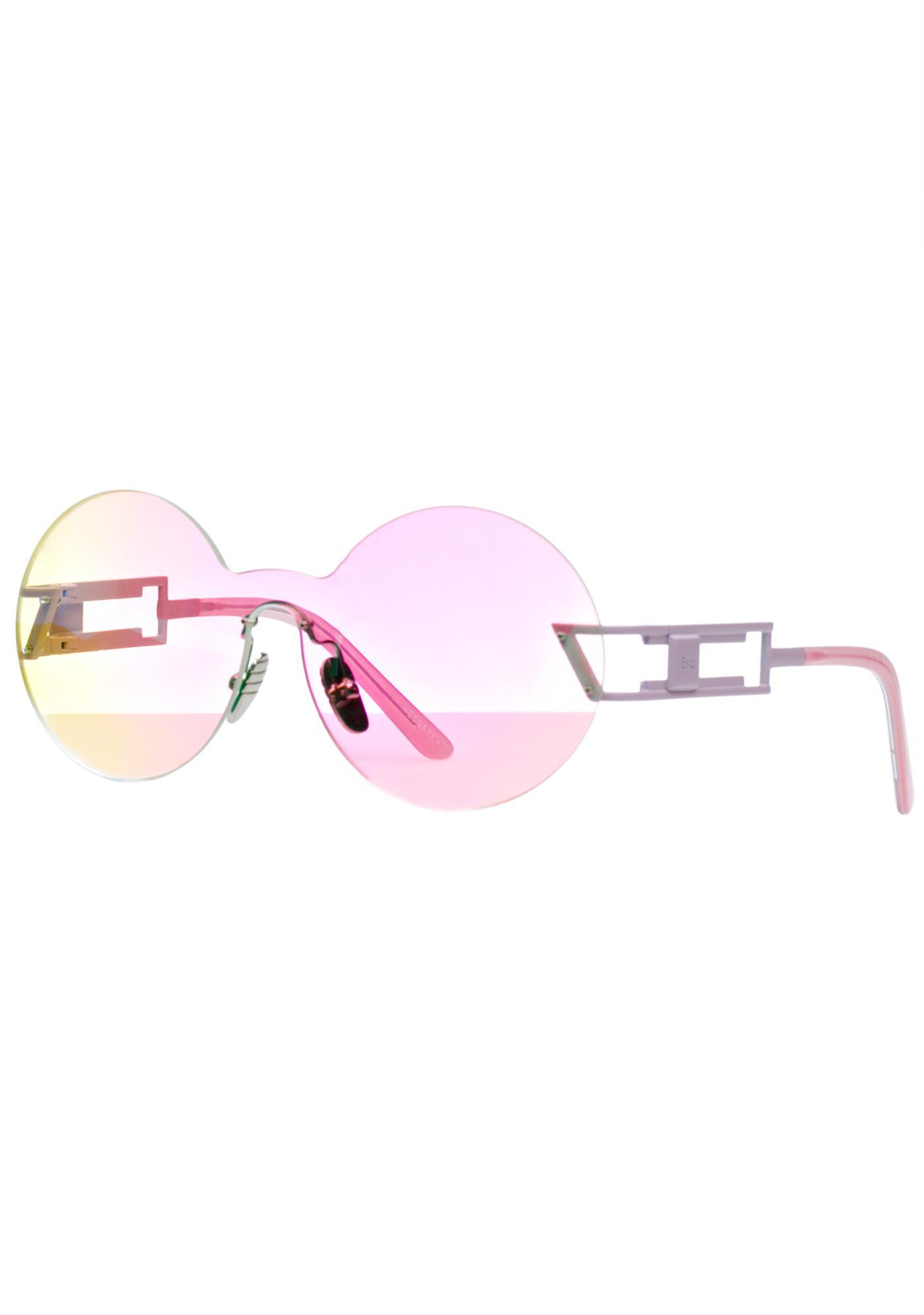 ESQAPE Seemore Pink Hologram Sunglasses