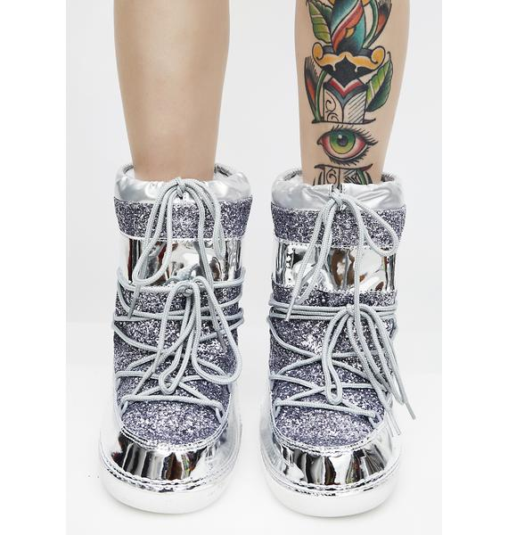 Metallic Journey To Mars Boots