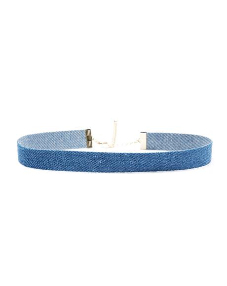 Feelin' The Blues Denim Choker