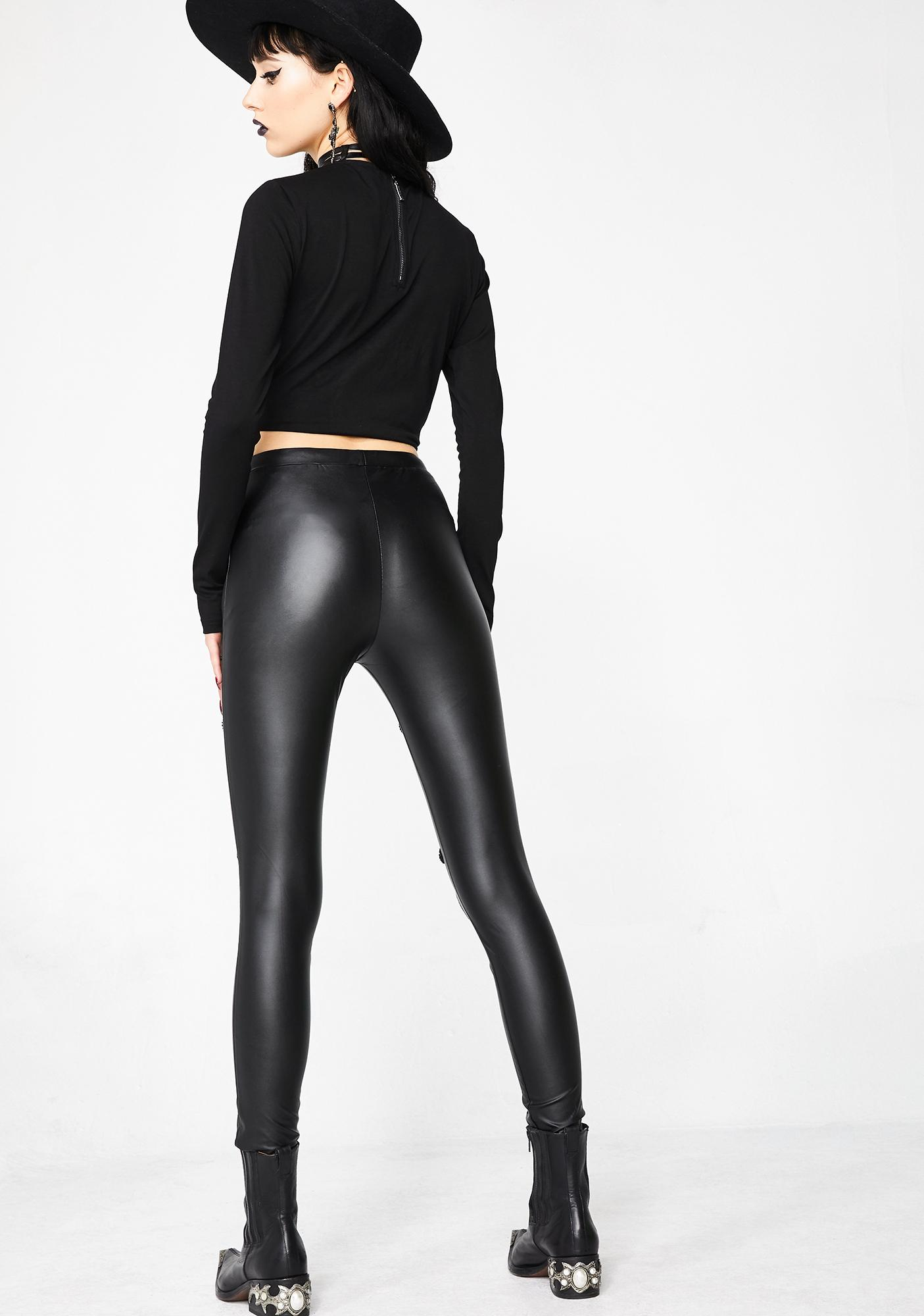 Punk Rave Vampire Sweet Love Leather Gothic Leggings