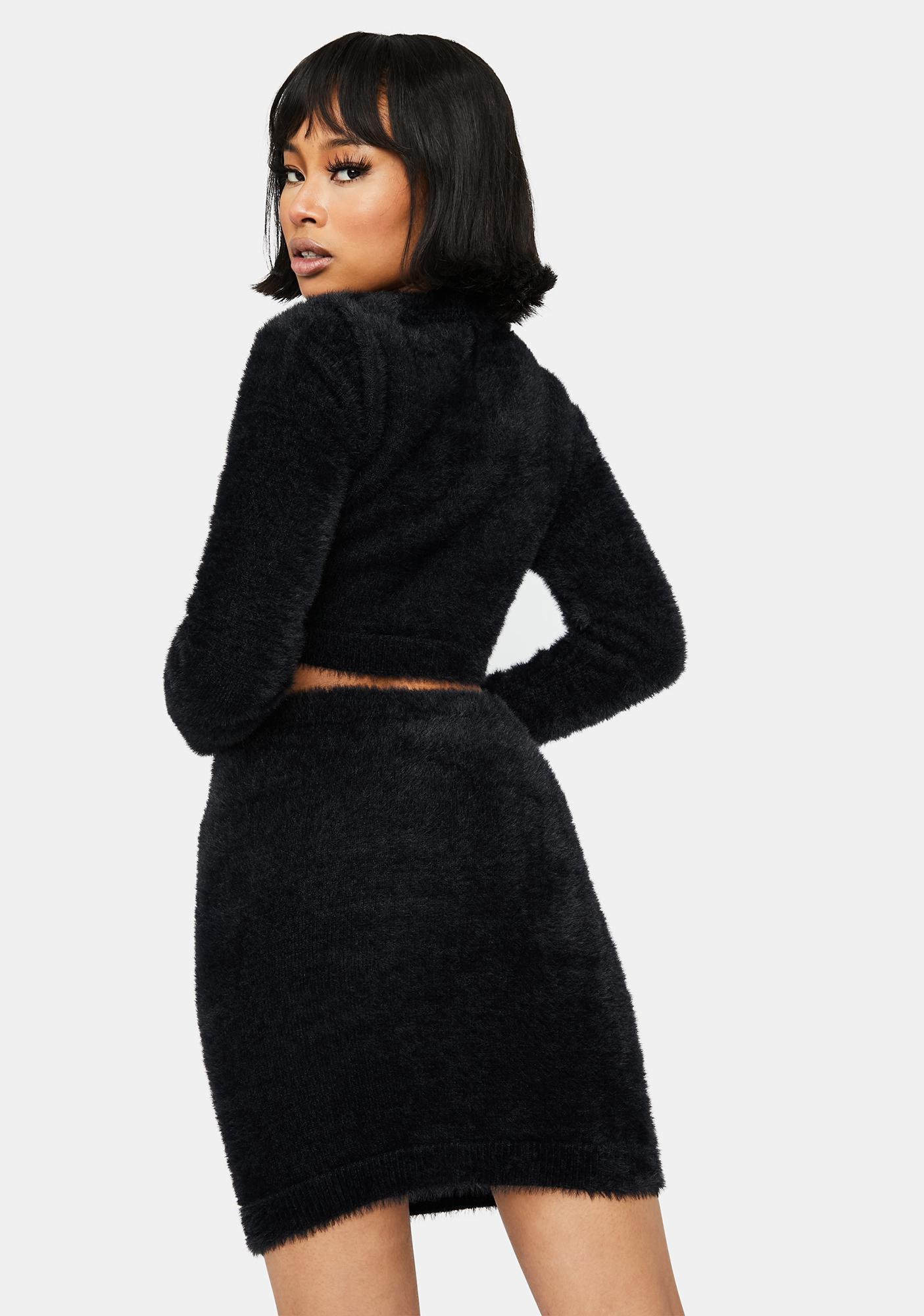 Night Bratty Confessions Fuzzy Skirt Set