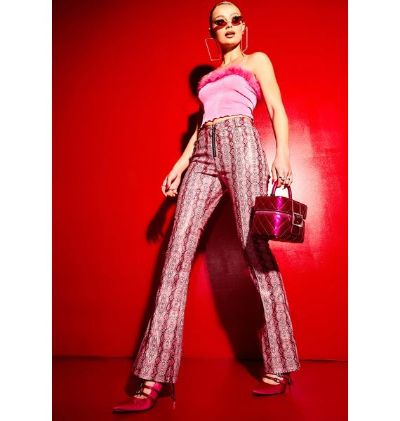 Poster Grl Now We're Jammin' Snake Print Cigarette Trousers